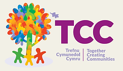 TCC logo with school hunger background
