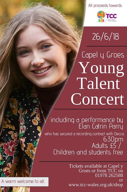 Young Talent Concert 26th June Adult ticket