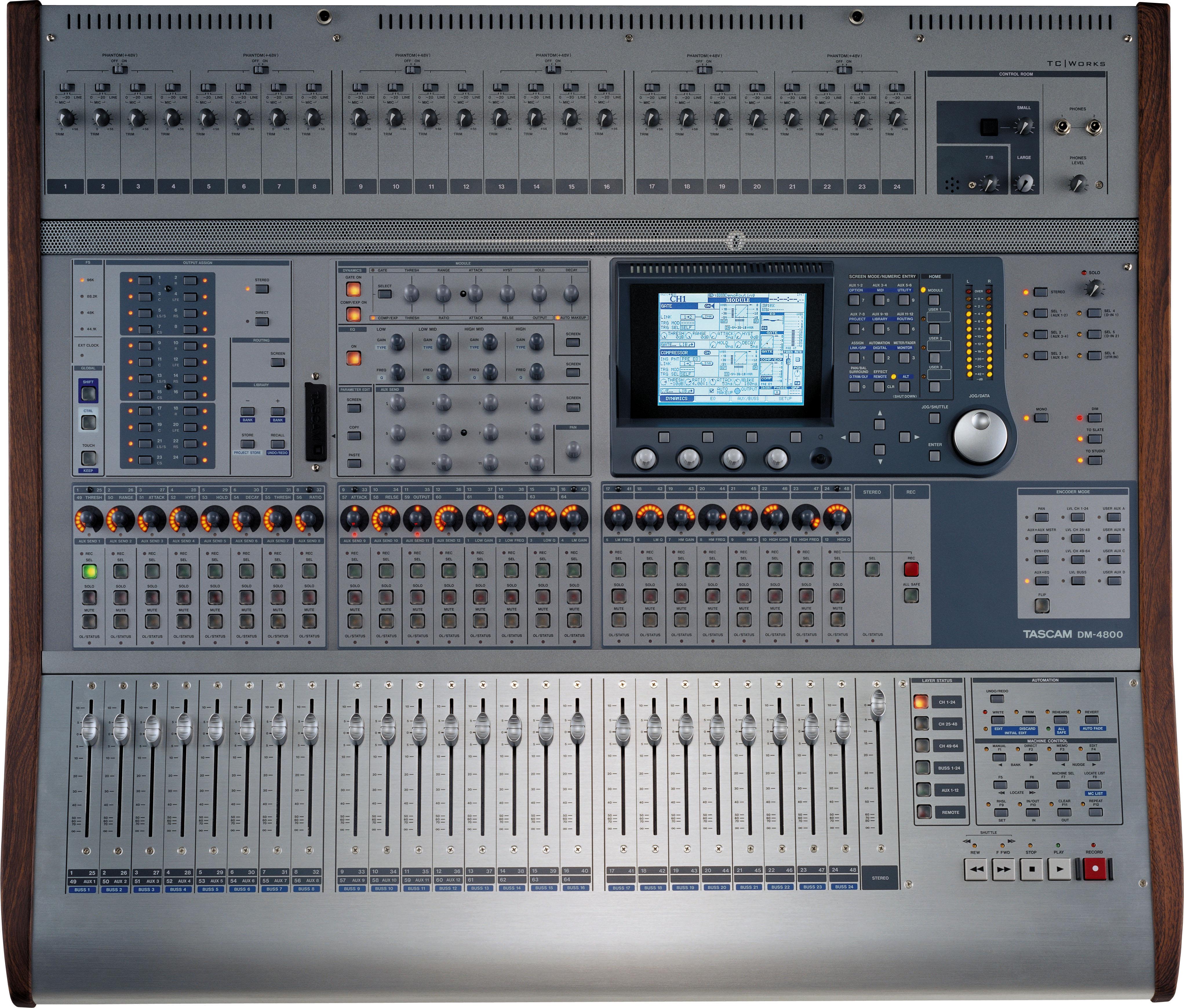 Tascam-DM-4800 mixing desk