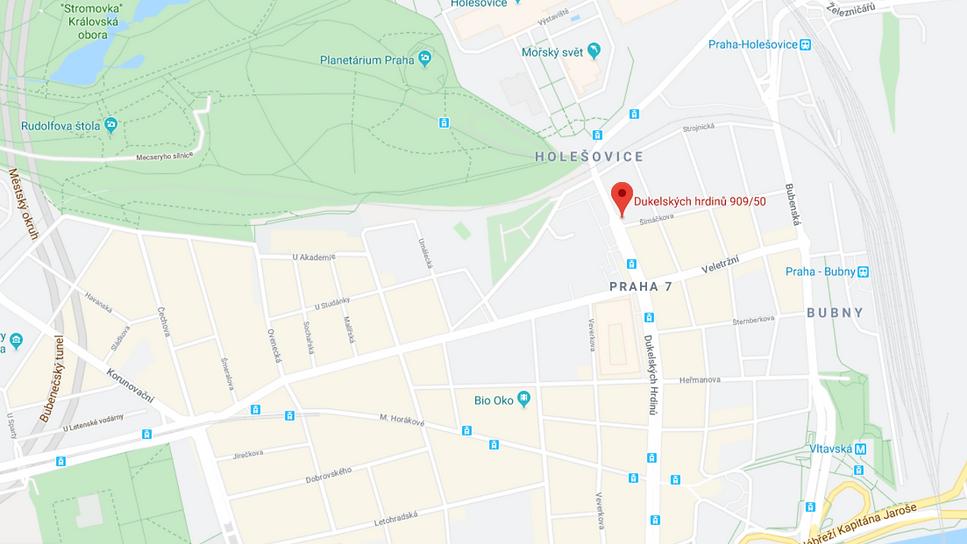 Mapa Praha 7