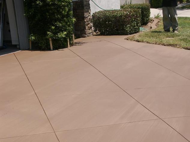 colored concrete (adobe tan pic here)