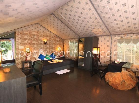 Swiss Cottage tent Inner view.JPG