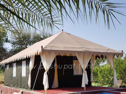 Swiss Cottage tent manufacturer in Delhi making Luxury Resort Swiss Cottage tent famous for Glamping.jpeg