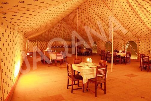 DINING TENT INNER VIEW