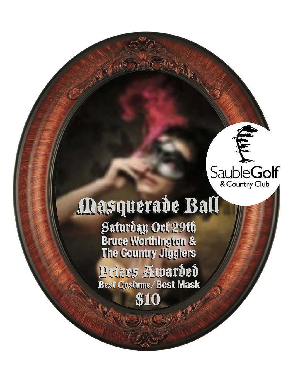 Saturday Night the mystery returns to Bogey's with our Annual Masquerade Ball, featuring Bruce Worthington & The Country Jigglers. Admission is just $10 and the band starts at 9pm. Bogey's opens for dinner at 4pm if you'd like to come and enjoy some of Chef Bob's famous Roast Beef or pick your favourite off menu.