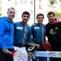 Alex Corretja, Pablo Lima, Fernando Belasteguín y Sergi Bruguera