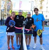 Marcela Ferrari, Cecilia Reiter, Carolina Navarro y Julio Salinas
