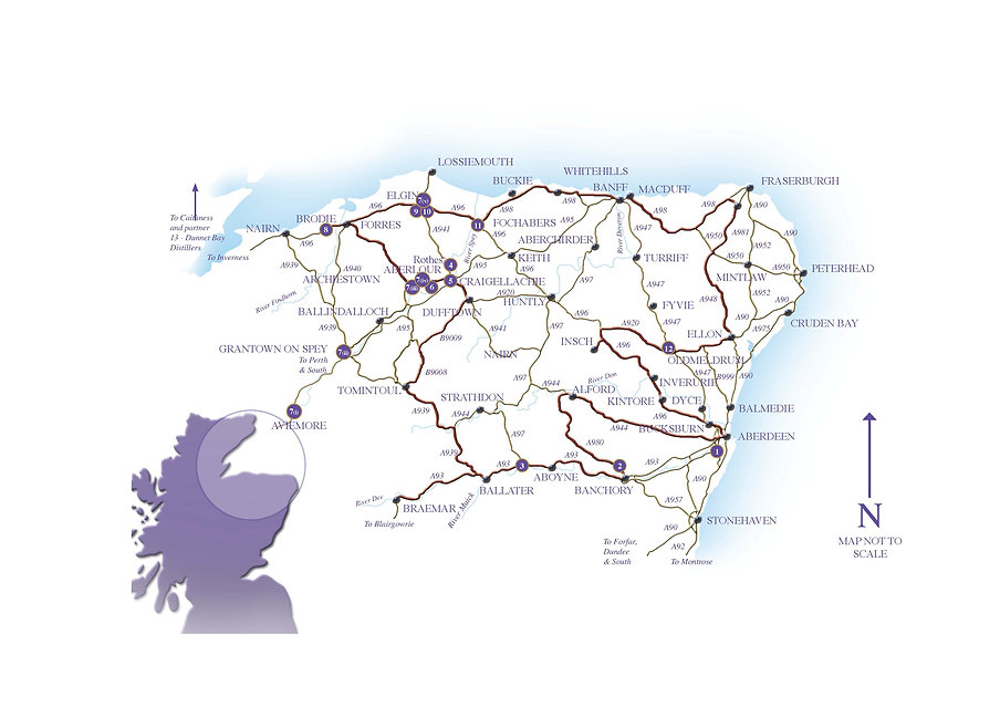Map of Scotlands Food Trail