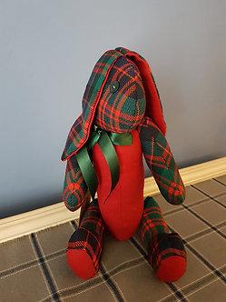 Exclusive Red Tartan Handmade Bunny