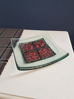 Handcrafted Square Glass Bowl