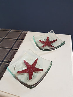 Handcrafted Starfish Glass Dishes