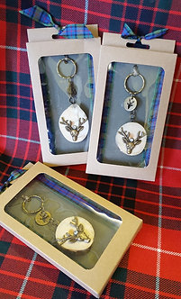Boxed Stag Keyrings