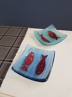 Handcrafted Fish Glass Dishes
