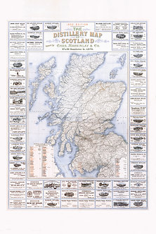 1902 Edition Of The Distillery Map Of Scotland
