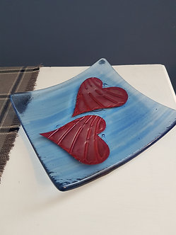 Handcrafted Love Heart Glass Bowl