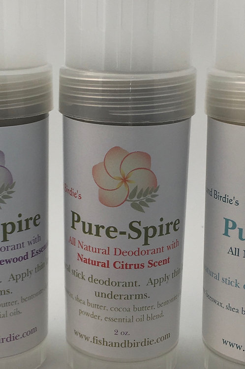 Pure-Spire Natural Deodorant Citrus
