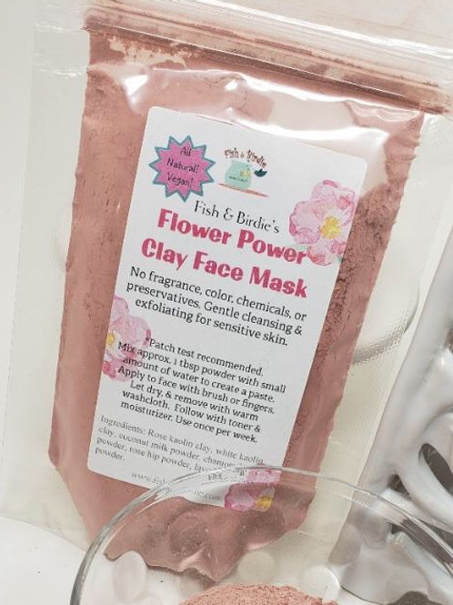 Flower Power Clay Face Mask