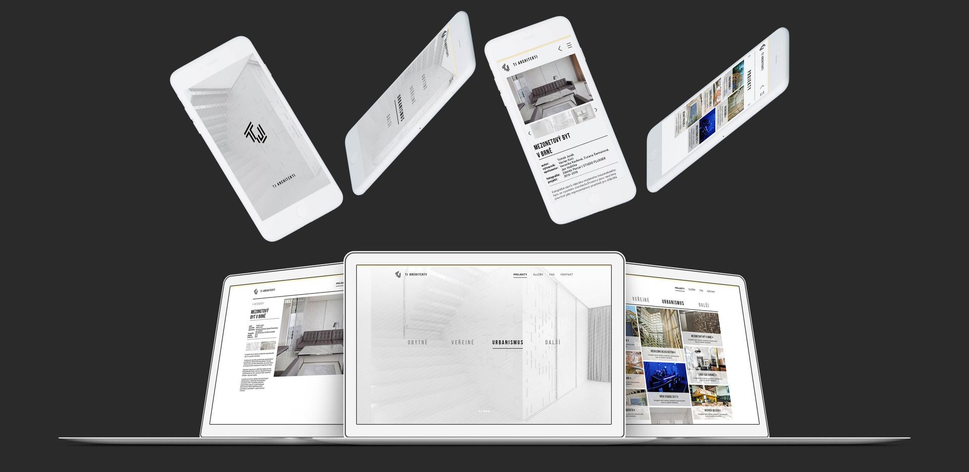 TJ architekti web