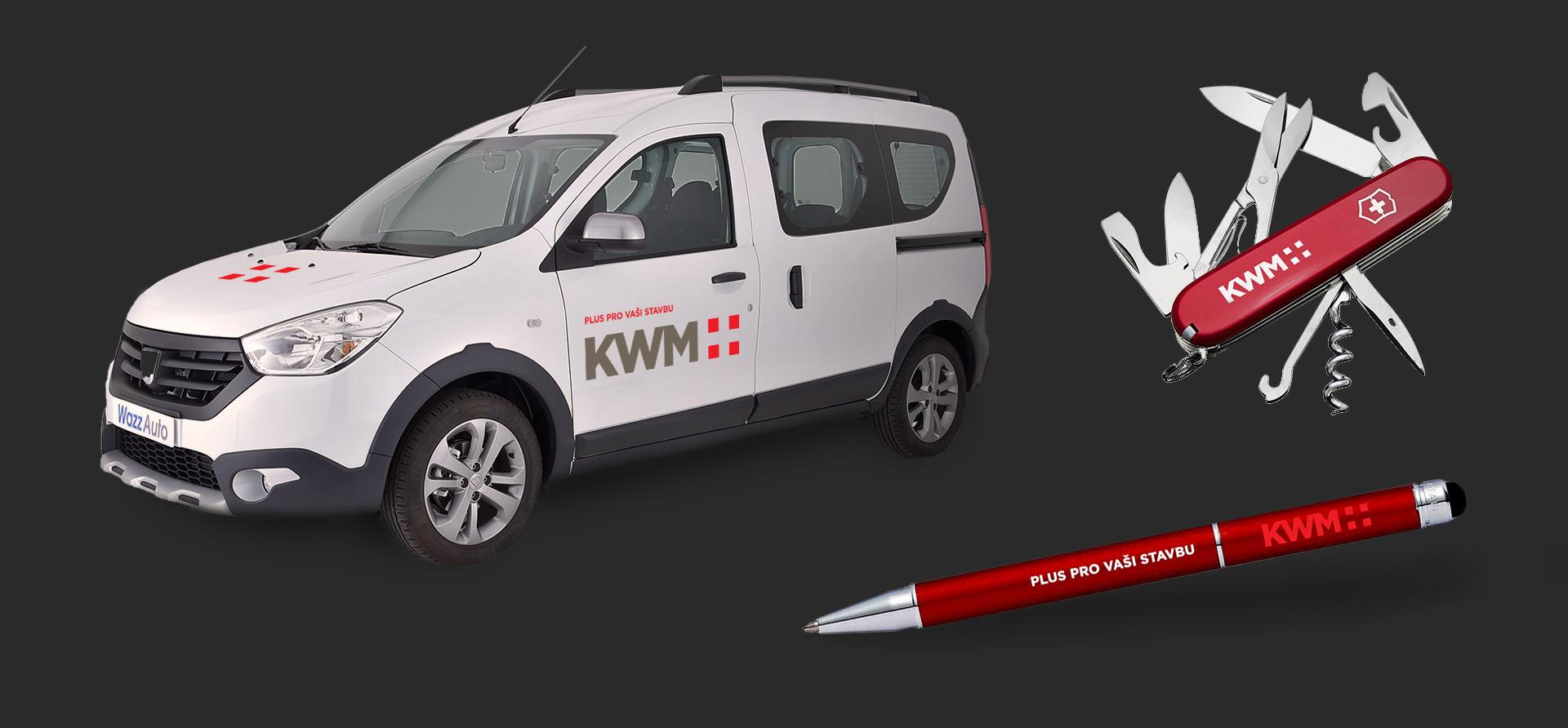 KWM plus branding