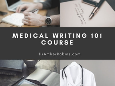 Medical Writing 101 Course (Monthly Fee)