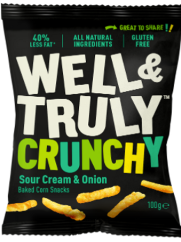 Well&Truly Sour Cream & Onion 100g