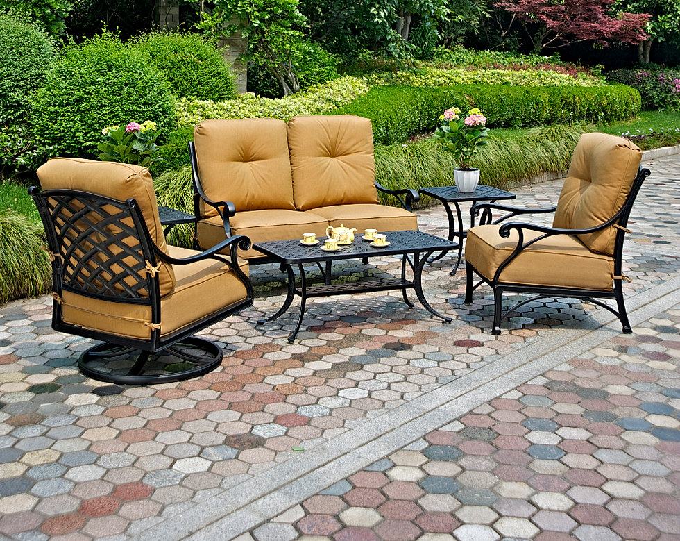 living backyard line an bistro the elegant biscayne seating becomes chairs tables staug furniture hanamint every meal patio with casual from features biscane essentials like event and