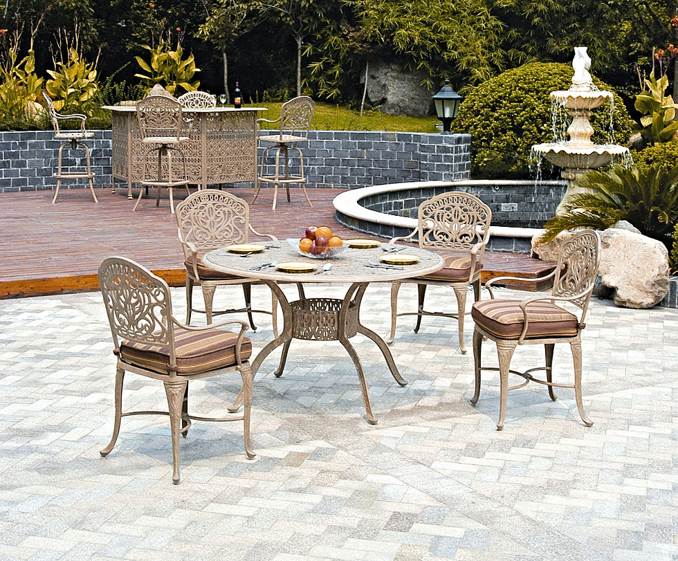 hanamint conversation aluminum outdoor cast new of great patio sets furniture tuscany