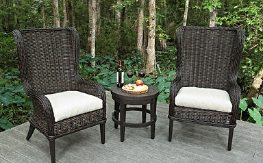 Genial ... Bellevue Wingback Host Chairs And Portofino Round Side Table ...
