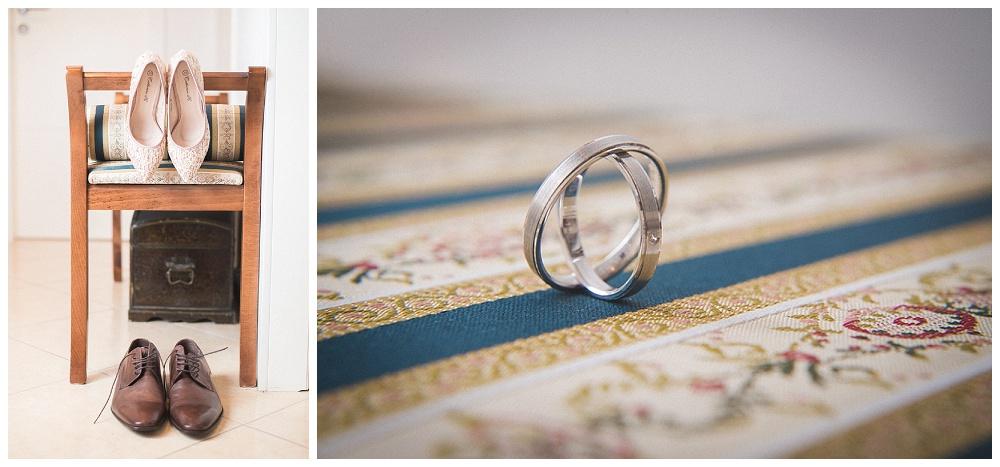 Cipele za vjenčanje i vjenčano prstenje, fotograf za svadbe Zagreb