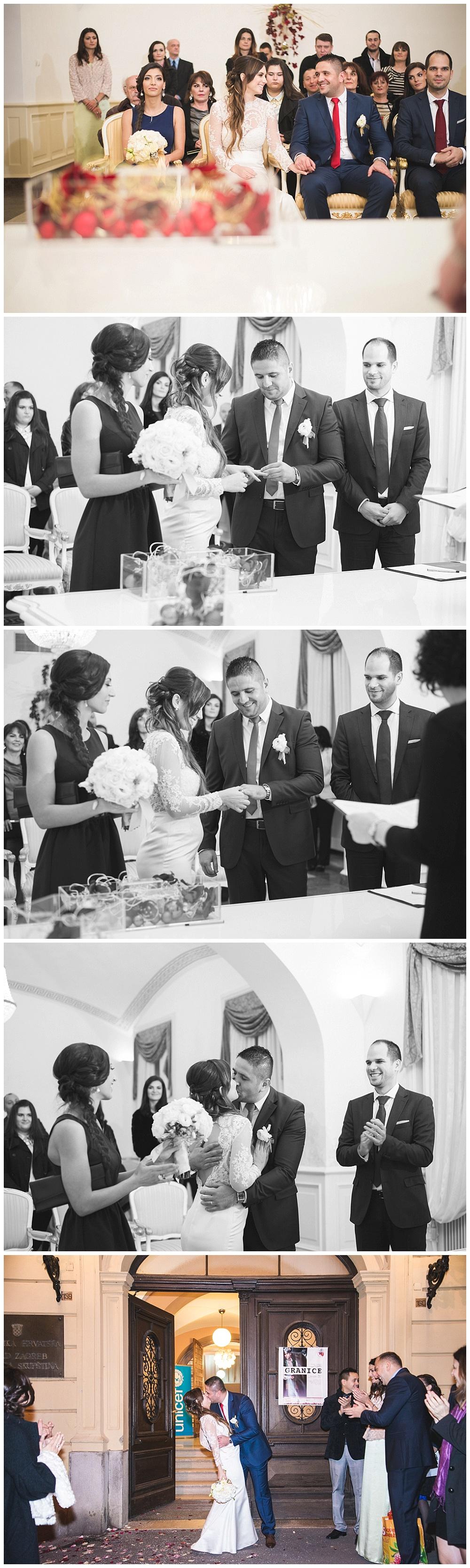 Fotografiranje u Gradskoj vječnica u Zagrebu, razmjena prstenja