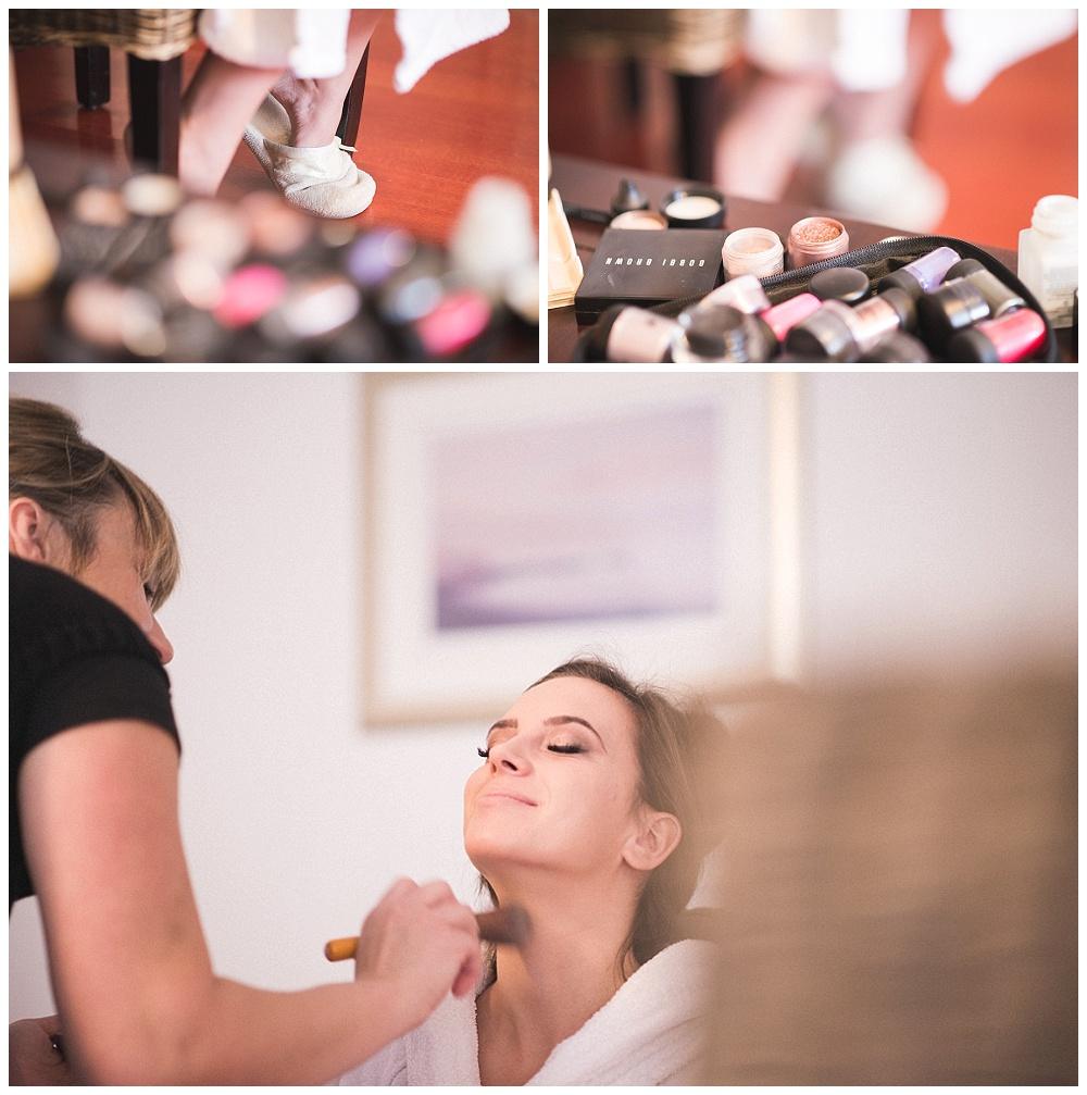 Fotografiranje svadbe make up mladenke