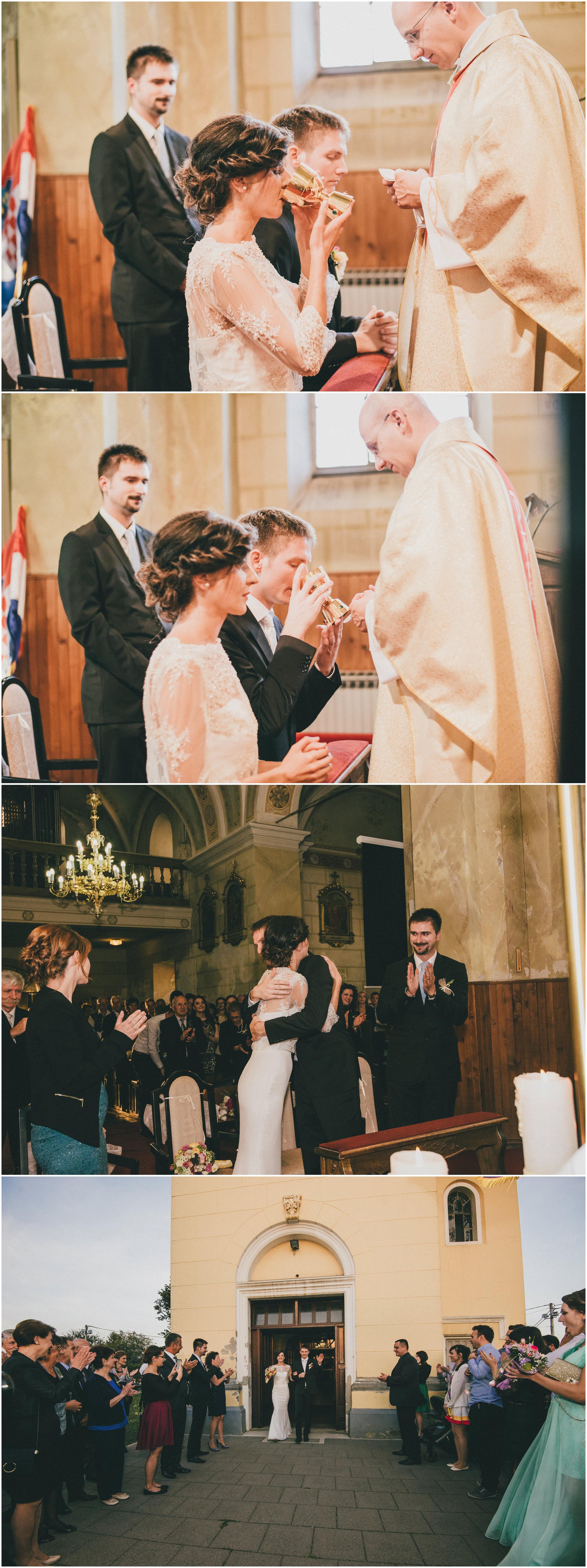 Čestitanje i izlazak iz crkve