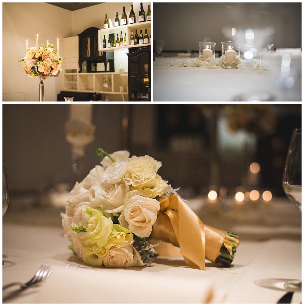 Detalji u restoranu, vjenčanje