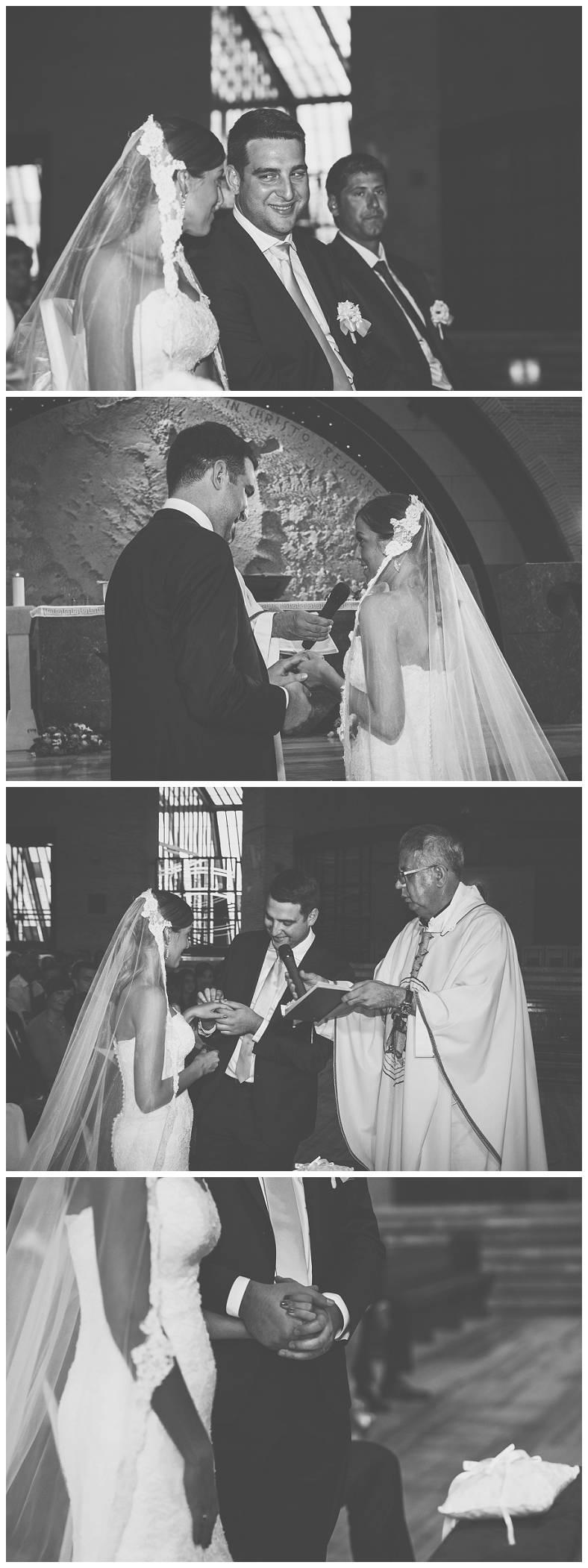 Razmjena prstenja mladenaca u crkvi