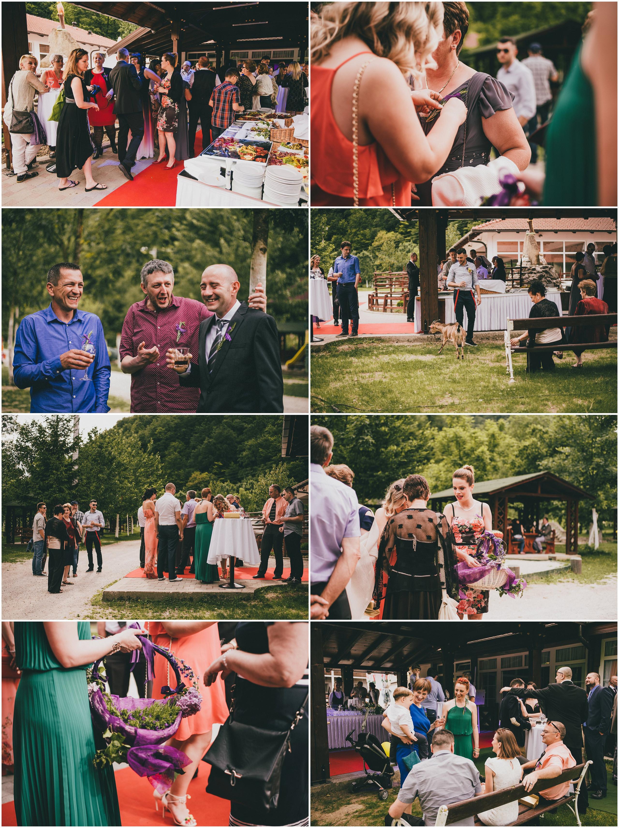 Okupljanje gostiju vjenčanja, Svadbe Divlje Vode