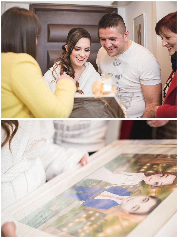 Slika, poklon mladencima za vjenčanje