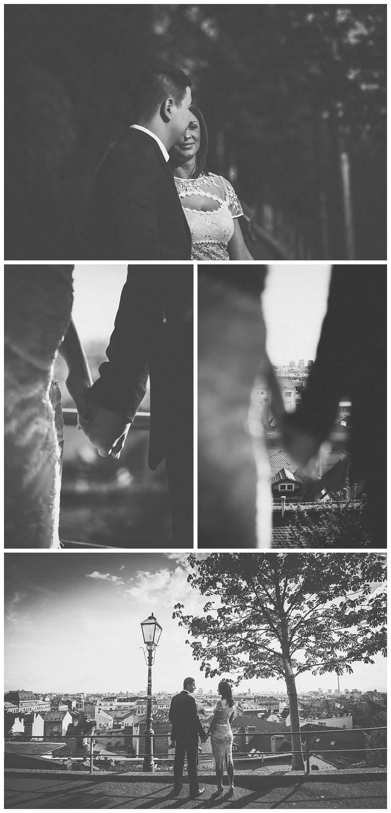 Par se drži za ruke, Gornji grad Zagreb