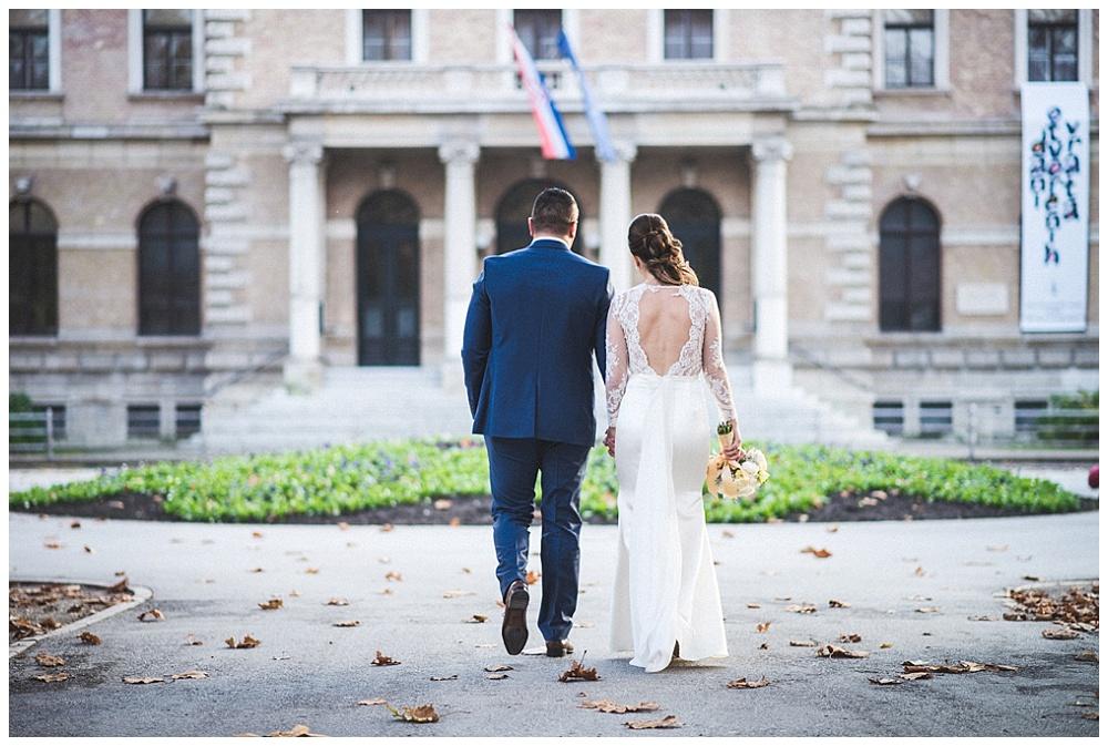 Fotografiranje vjenčanja u Zagrebu, mladenci na Zrinjevcu