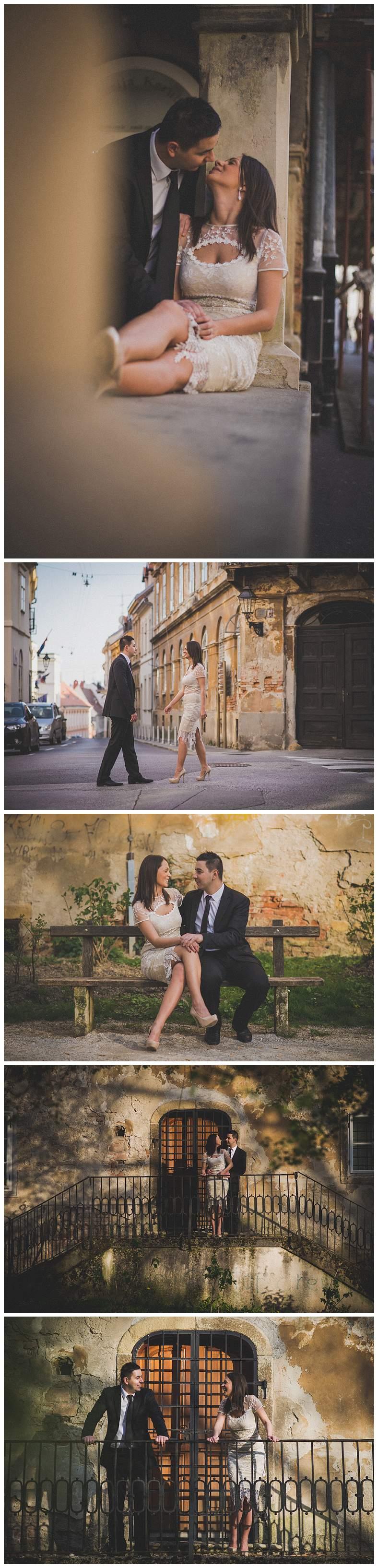 Par se susreće na Gornjem gradu fotograf za vjenčanja Zagreb