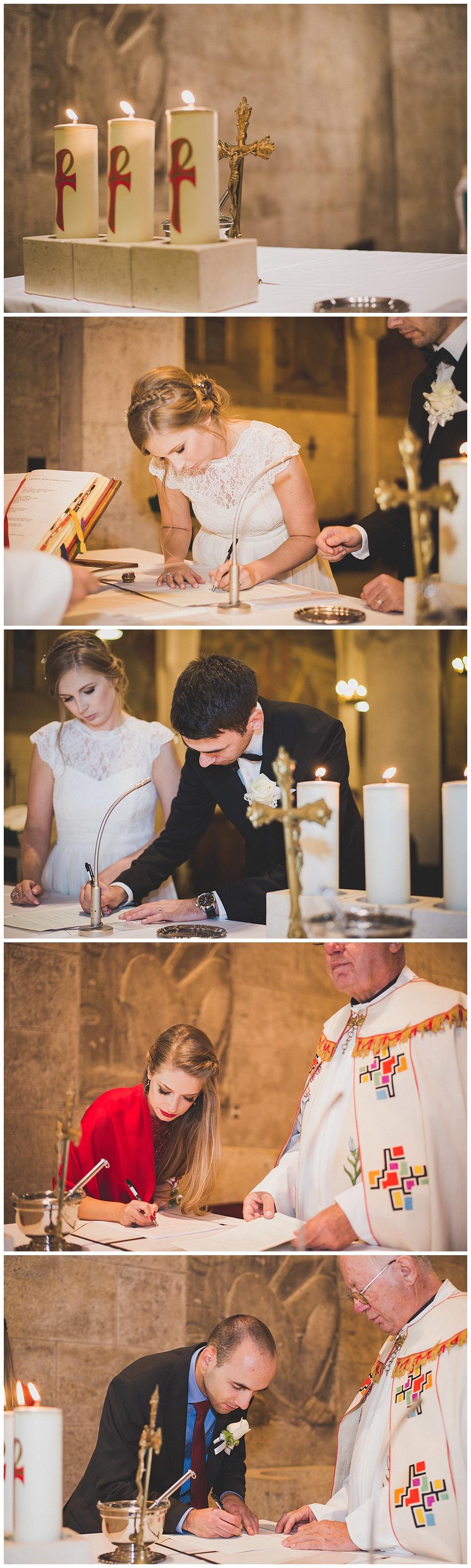 Potpisi mladenaca u crkvi
