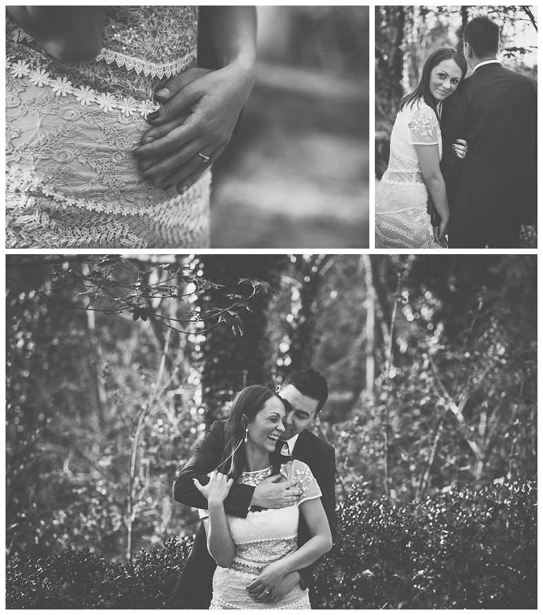 Zagrljeni mladenci na fotografskom slikanju vjenčanja u Zagrebu