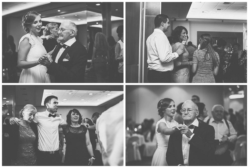 Mladenka s ocem i ples gostiju u restoranu