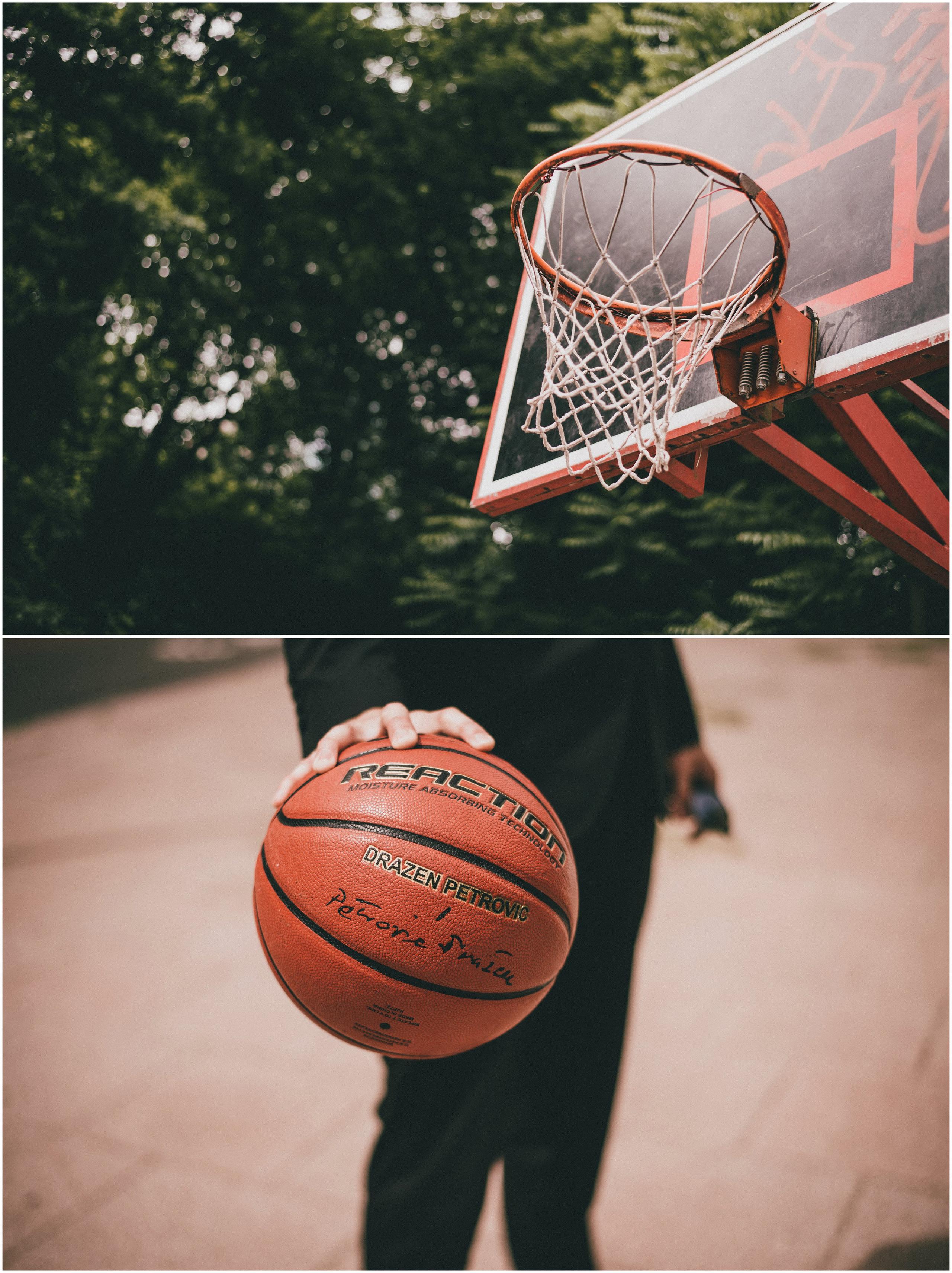 Mladoženja s košarkaškom loptom