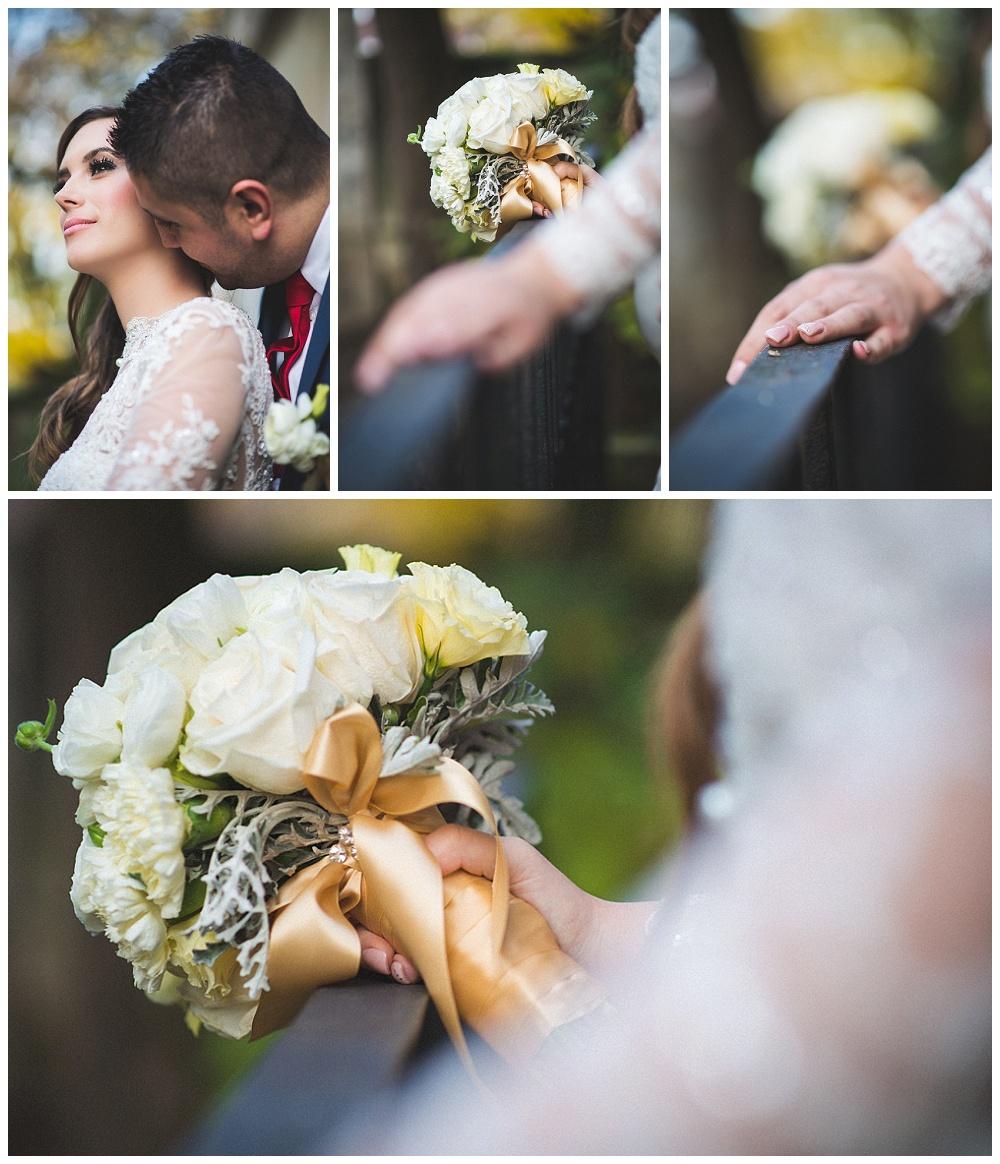 Mladenci i vjenčani buket