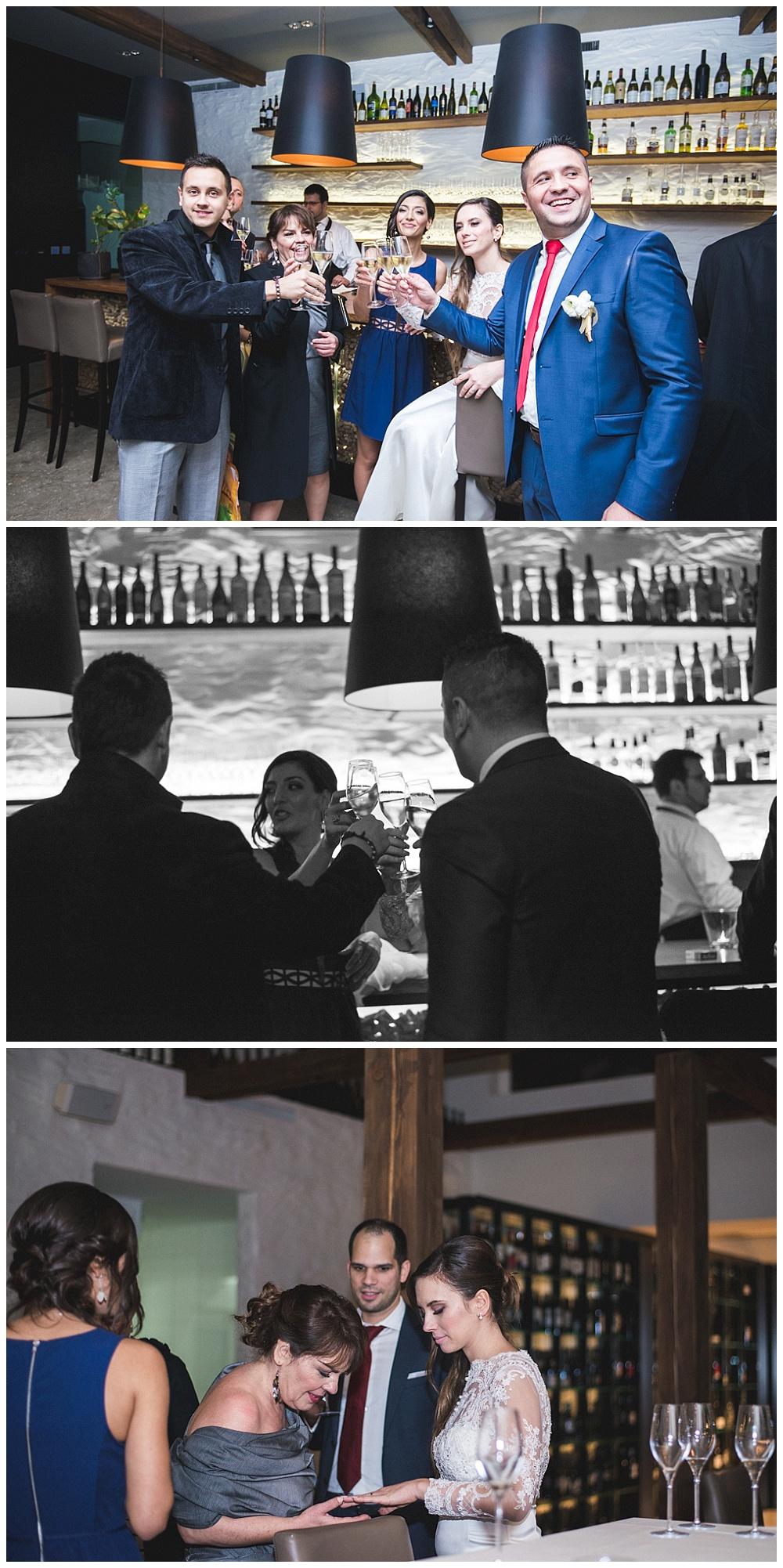 Svadbena večera mladenaca i gostiju u Zagrebu