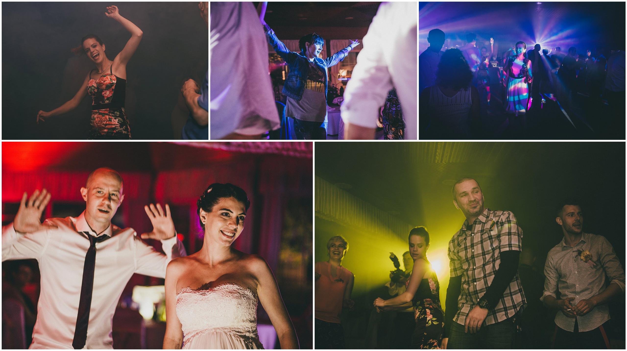 Ples mladenaca, kumova i gostiju na svadbi