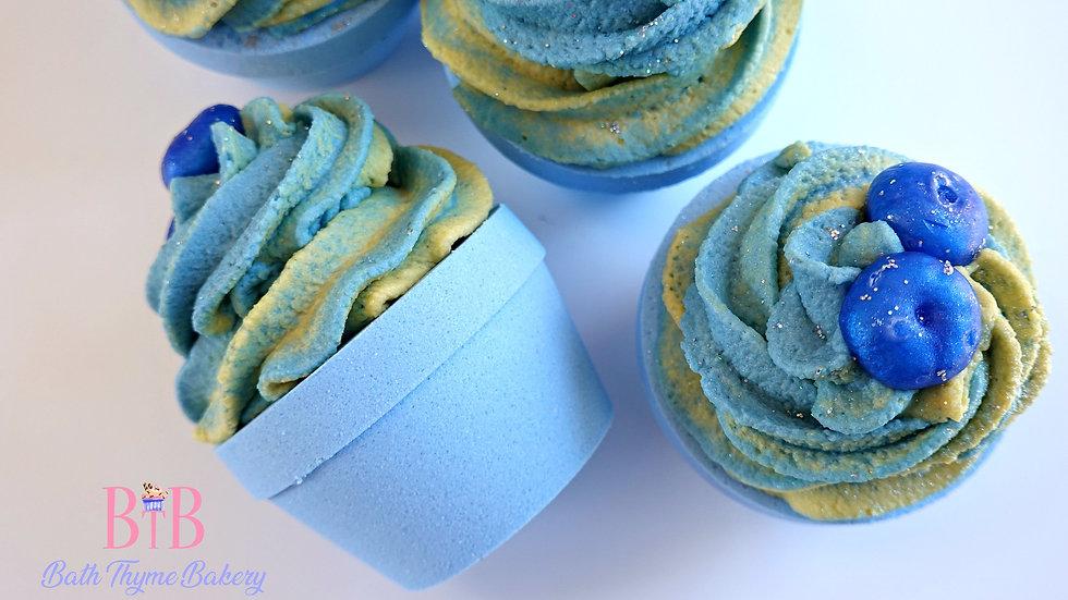 Blueberry Lemon Cupcake Bath Bomb