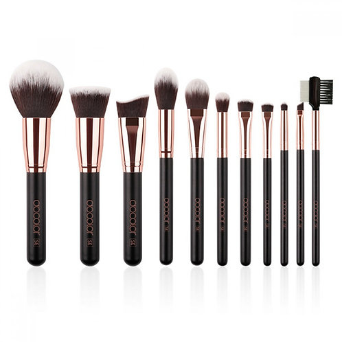 11 Pieces Basic Brush Set (Rose Gold)