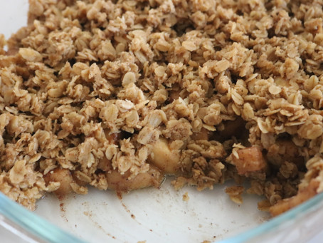 Warming Healthy Gluten Free Apple Crumble