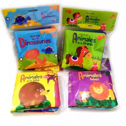 Set de 4 Libros de Tela para Bebés